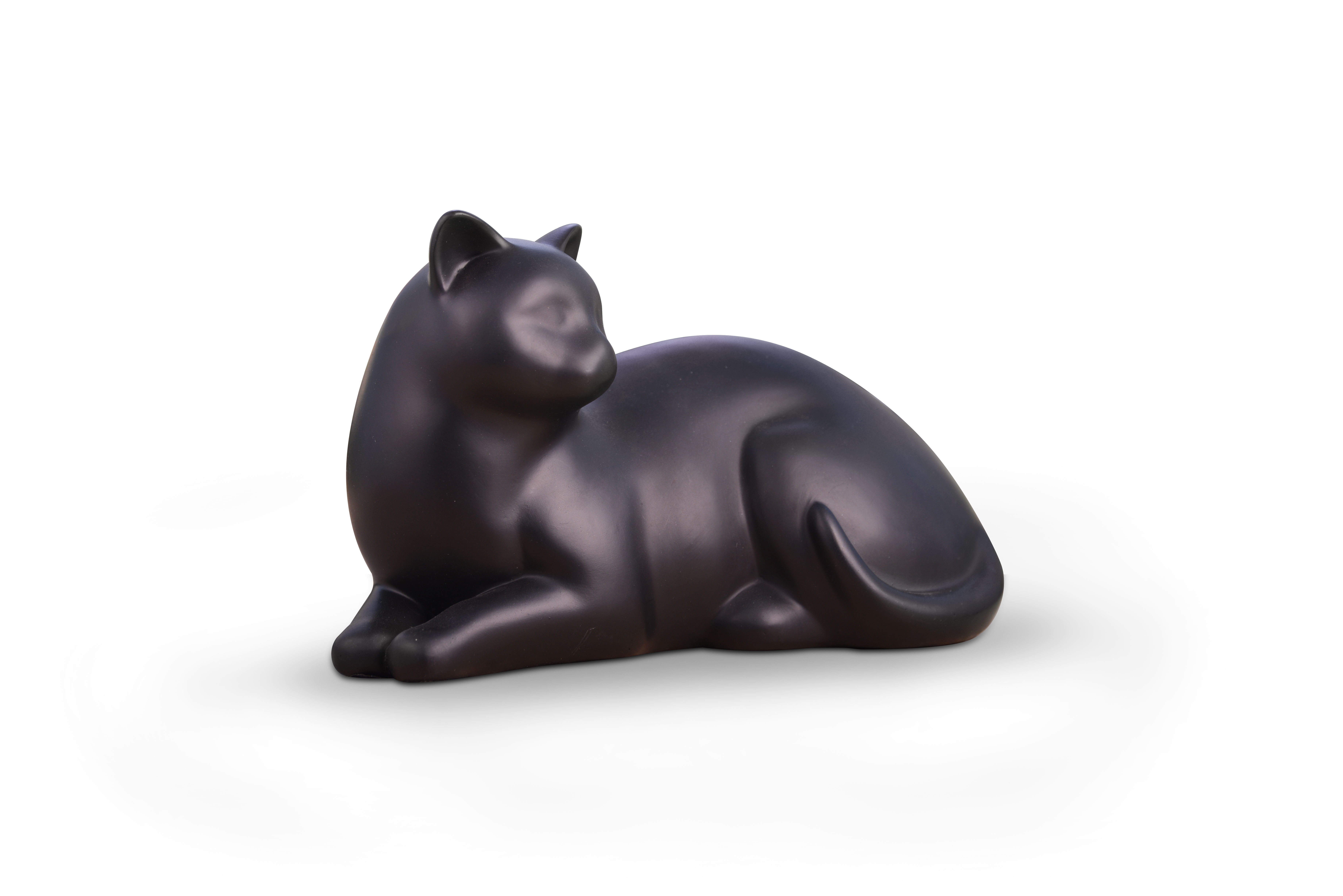 Cozy Cat Urn - Black Image