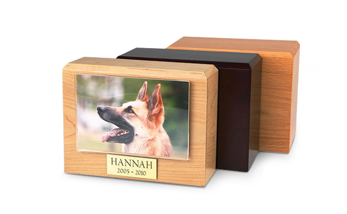 Traditional Pet Picture Urn Image