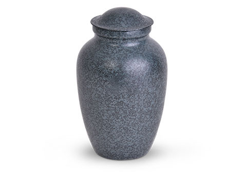 Decorative Metal Urn - Blue Image