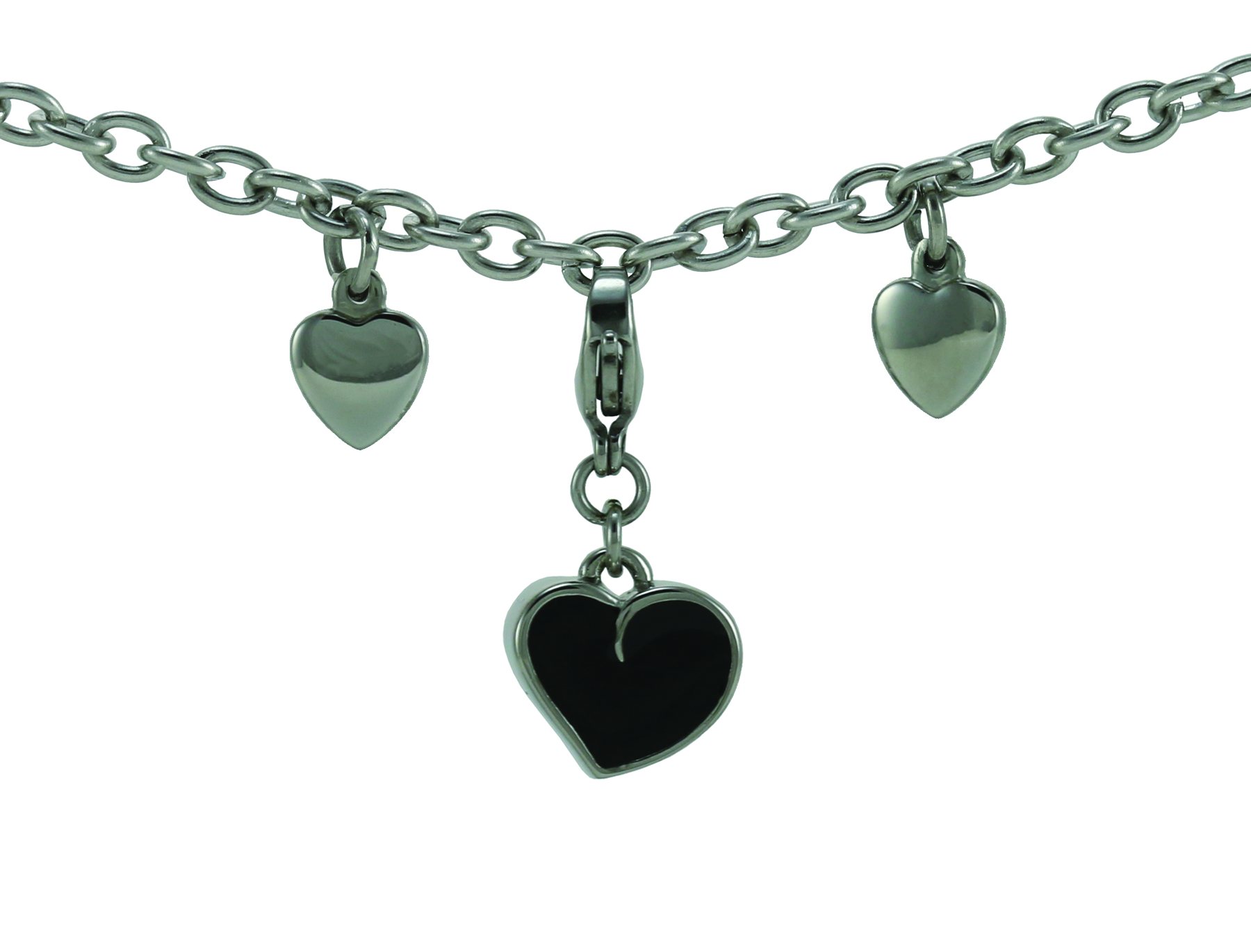 Charm Bracelet with Heart Charm Image