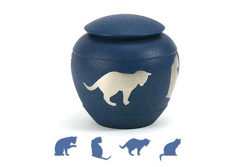 Silhouette- Country Blue Cat Image