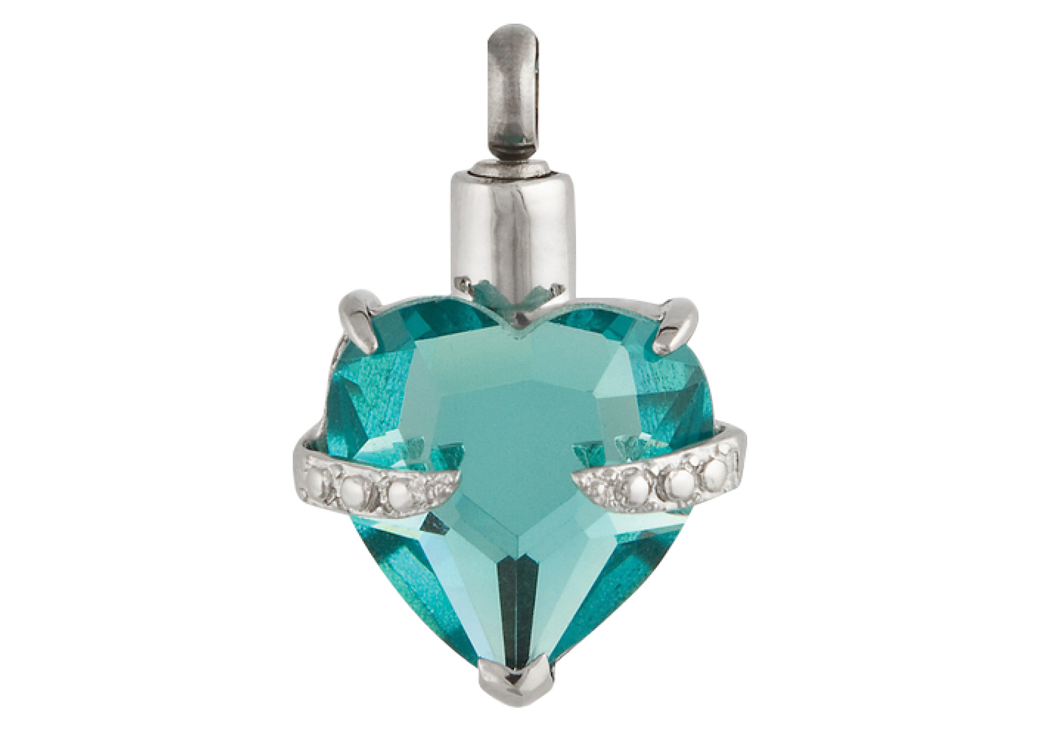 Forever In My Heart Pendant - Aqua Image